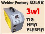 WELDER FANTASY SOLAR 3in1 TIG, MMA, PLASMA